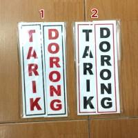 Plang Tanda Tarik Dorong Signage Acrylic Arklirik Kualitas Premium