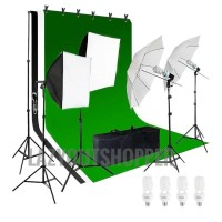 Paket studio dengan stand background dan kain background - Netral