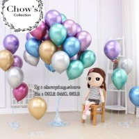 Balon Latex Metalik / Balon Karet warna Metalik CHROME 12 inch