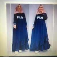 gamis syari baju muslim wanita surinala sablon fila