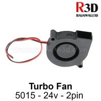 DC Turbo Cooling Fan 5015 24v 2pin Brushless Blower