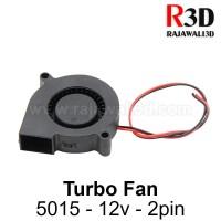DC Turbo Cooling Fan 5015 12v 2pin Brushless Blower