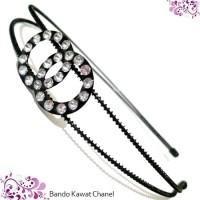Bando Kawat Chanel Putih / Aksesoris Rambut murah