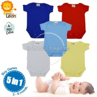 BABY LEON 5PCS baju bayi/jumsuit bayi boy girl/kaos jumper bayi BC-01