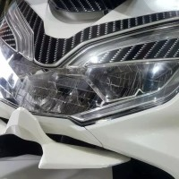 Winglet honda pcx lokal bahan abs VND aksesoris depan lampu headlamp