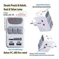 PROMO SALE Colokan Listrik Murah steker powerstation Dual USB Charger