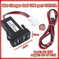 Slot Charger 2 port USB 2.1A Mobil TOYOTA