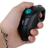 Mini Portable USB Wireless Mouse Finger HandHeld Trackball PC Laptop