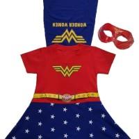 Baju topeng anak cewek superhero wonder woman - kostum wondar woman