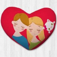 Bantal hati / kado valentine - Girl Boy Xtra Large