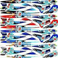 Striping variasi sticker lis bodi Mio sporty & mio smile doraemon T175