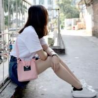 Tas fashion wanita kanvas ori muat HP selempang cewek korea style