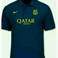 kaos Polo shirt kaos Bola Nike Barca Barcelona QATAR