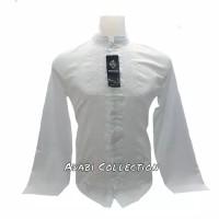 Baju Koko Semi Sutra Putih Senada