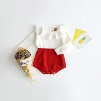 Baju Anak Perempuan / Natal - Sweater Romper Red