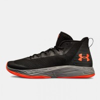 Sepatu Basket UNDER ARMOUR JET MID Black Orange