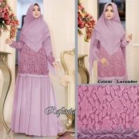 Baju Busana Muslim Wanita Gamis Syari Pesta Brukat Rafania MX Terbaru