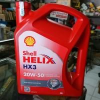 Oli Shell Helix HX3 20w 50 4 liter / 1 galon botol merah oli mobil