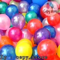 Balon Latex Metalik 5inch / Balon Latex Metalik Decotex 5inch - Hitam