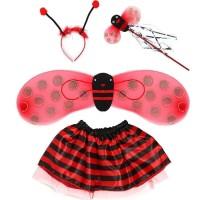 Baju kostum anak animal kumbang Ladybug costume 4 in 1