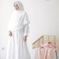 Baju Gamis putih gamis umroh syari putih jumbo busui