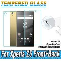Temper Glass Front+Back(Depan+Belakang) Sony Experia Z5 Z1 Z2