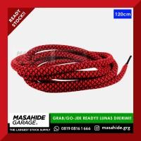 RF SHOELACES   ROUND BLACK RED MOTIVE - 120cm - TALI SEPATU YEEZY