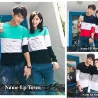 Lengan panjang couple model korea | baju copel kekinian simple | Name