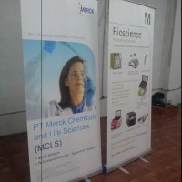 promo Banner Roll up Alumunium 60x160 Display Promosi Iklan