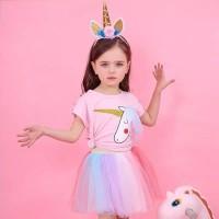 Baju Anak Unicorn/Setelan Rok Tutu Anak Unicorn/Dress Pesta Unicorn