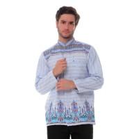 Baju Koko Lengan Panjang Katun India Songket 919