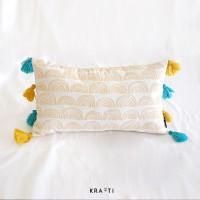 Bantal Sofa 30x50 cm Motif Abstract Bantal Tassel [ Sarung + Bantal ]