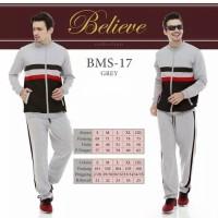Believe BMS 17 - Baju Muslim Setelan Senam Olah Raga Termurah Original