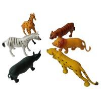 Set Miniatur Wild Animal Mainan Hewan Binatang Karet Besar Isi 6 pcs