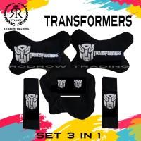 Bantal Mobil Transformer Set 3 in 1 / Bantal Jok Mobil Transformer Set
