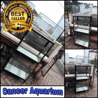 1 Set Aquarium 60x30x35 Dan Rak Besi Sikunya