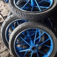 roda gerobak ruji besi besar roda ban 275/17.