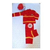 Baju Karnaval Pemadam Kebakaran Anak PMK Helm
