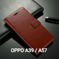 Casing OPPO A39 A57 Case Leather Wallet Flip Cover A57 A39 Dompet