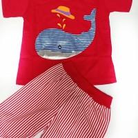 Baju Anak karakter SHARK Setelan fhasion anak laki