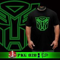 Kaos Baju Big Size Transformers Optimus Glow in the dark Tshirt Jumbo