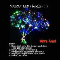 Balon LED RGB LENGKAP 1/BOBO LED/Balon Lampu Tumblr 1 MODE + Gagang