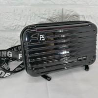 tas koper mini koper bag selempang forever young motif garis