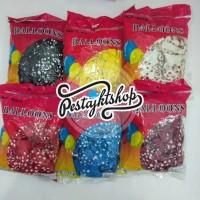 balon polkadot perpack ( satu warna) isi 100   balon latex polkadot