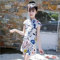 191- 057 Dress Anak Remaja Tanggung Cheongsam Impor 4-9 tahun