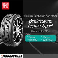 Ban Mobil Bridgestone Techno Sport 195/50R16 (Vocer) (Paket Khusus)