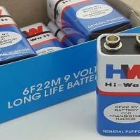 Baterai 9v Battery Petak 9volt Batre 9 volt 6f22m HW Hi Watt