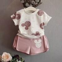 Baju bayi / Pakaian bayi perempuan/Setelan bayi perempuan mickey mouse