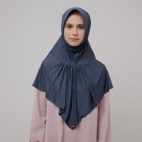 Zoya Kerudung Instan Hijab - Kalila Nalanie State Grey| HEIQ Tech
