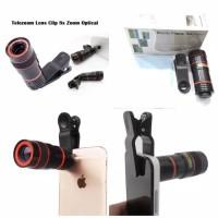 Lensa Telezoom lens clip 8x zoom optical universal clip jepit